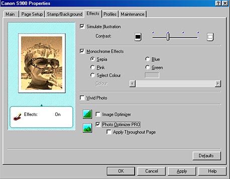 Canon S900 Printer Driver