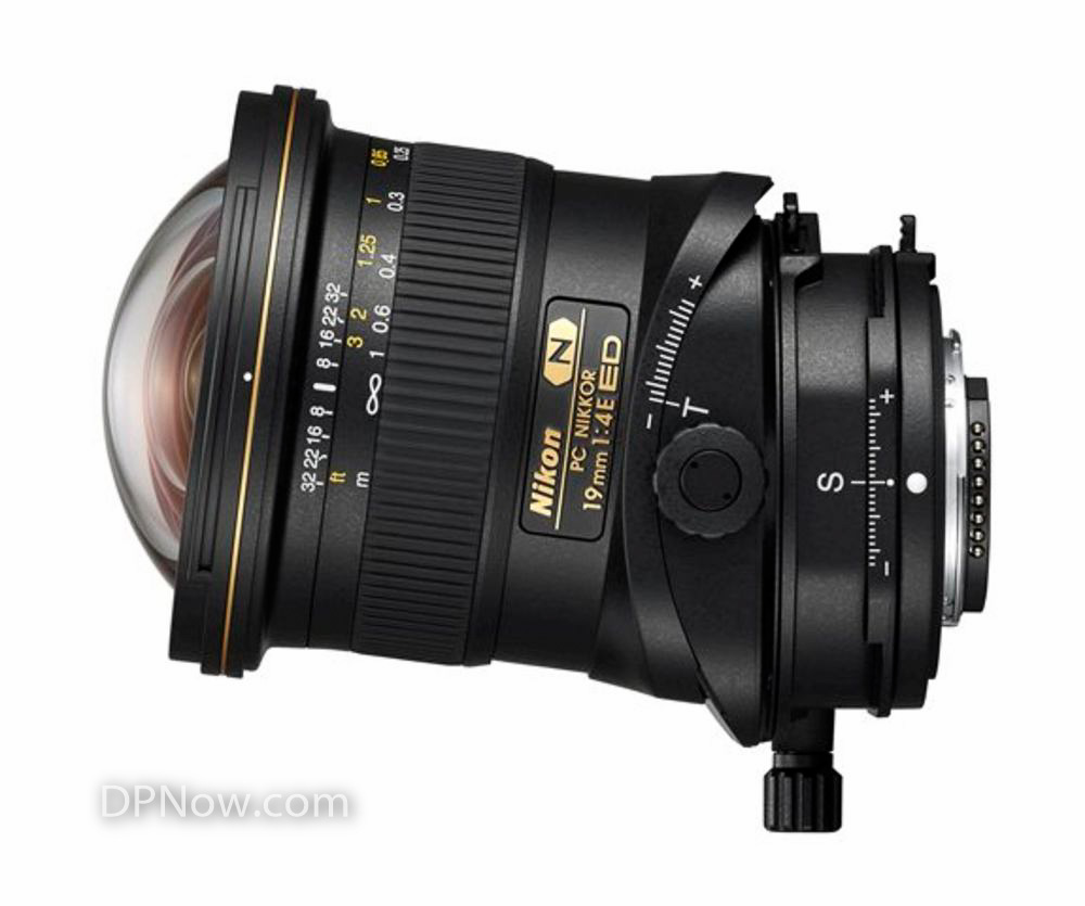 PC NIKKOR 19mm f/4E ED tilt-shift lens