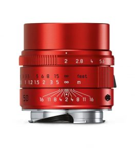 Anodised Red Leica Apo Summicron-M 50mm f/2 Asph