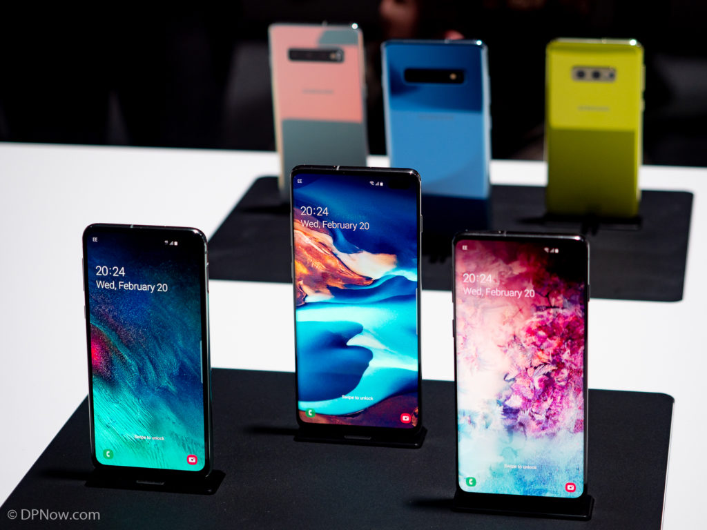 Samsung Galaxy S10e, S10+ and S10