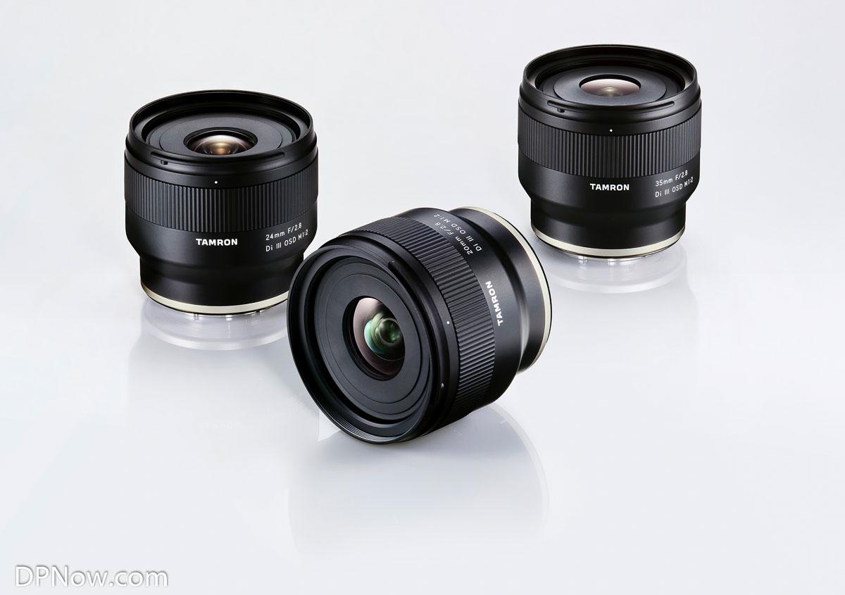 Three new Sony E-mount full frame prime lenses from Tamron